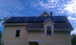 Photovoltaic installation in Sharon, MA