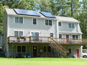 Solar installation in Stow, MA